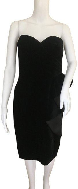 Armani Collezioni Black Mid-length Cocktail Dress Size 10 (M) Armani Collezioni Black Mid-length Cocktail Dress Size 10 (M) Image 1