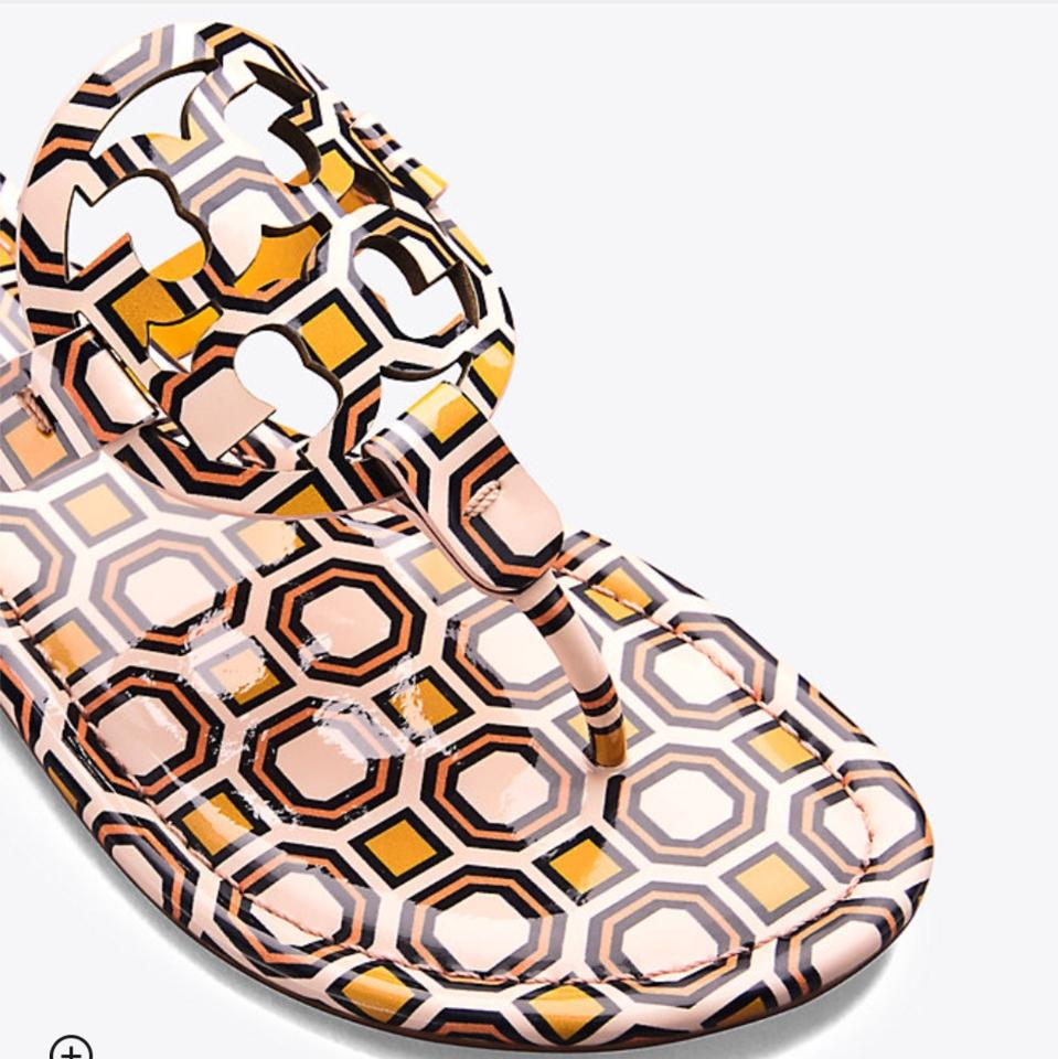 986a2aa73bff0f Tory Burch Ballet Pink Octagon Square Miller Sandals Size US 7 ...