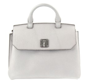 MCM Backpack Convertible Milla Leather Satchel in Silver