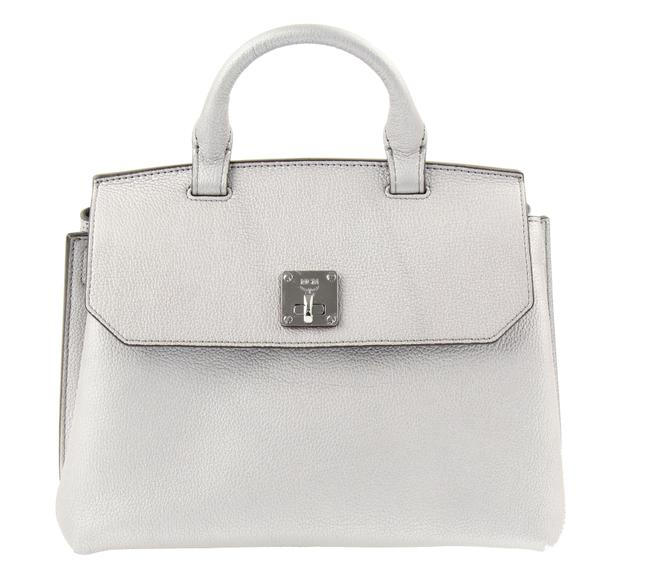Item - Milla Convertible Silver Leather Satchel