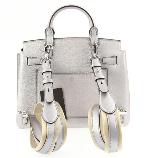 MCM Backpack Convertible Milla Leather Satchel in Silver Image 2
