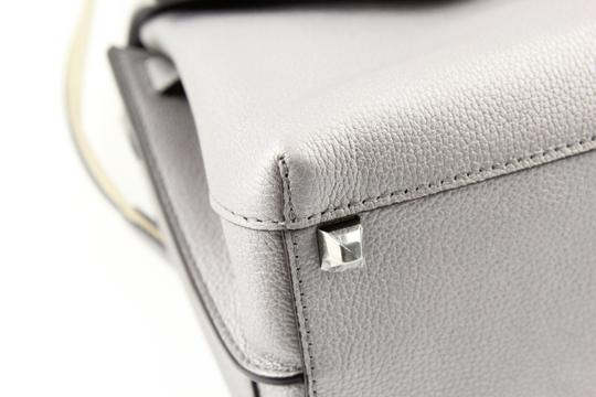 MCM Backpack Convertible Milla Leather Satchel in Silver Image 5