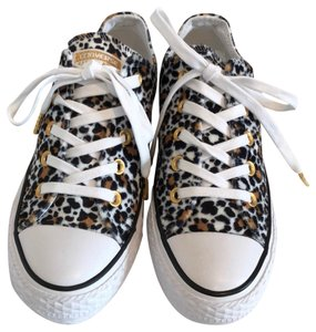 918dc5af395 Added to Shopping Bag. Converse Black/Tan/White Athletic. Converse  Black/Tan/White Leopard Print Sneakers ...