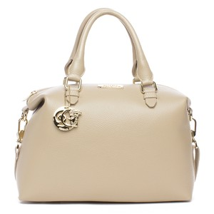 Versace Collection Leather Satchel in Beige