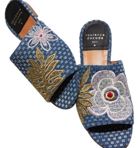 Laurence Dacade Blue Mules