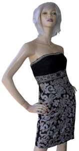 Sue Wong Prom Evening Sequin Cocktail Strapless Dress