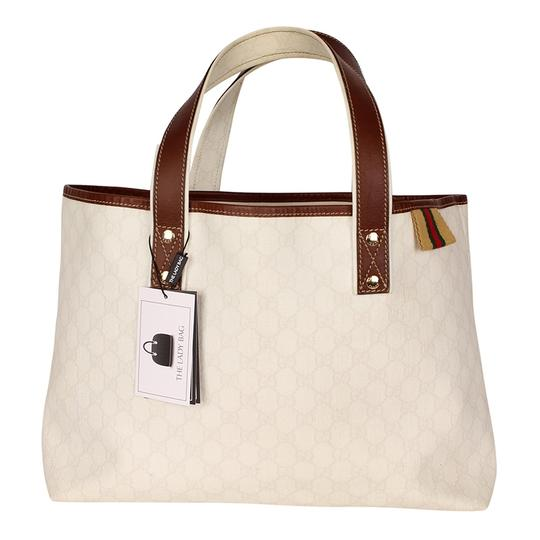 9cf3e873f13827 Gucci Webby Gg Supreme Handbag Cream Coated Canvas and Tote6113 ...