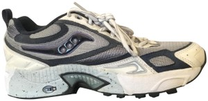 Saucony Sneakers Running Flat White, Blue, Silver Athletic
