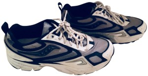 Saucony Sneakers Running Flat White, Blue Silver Athletic