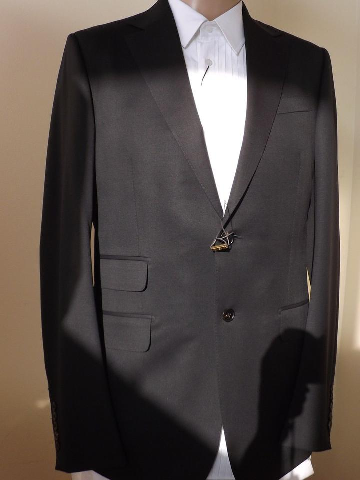 76a928aa2 Gucci Black Wool Stretch Two Button Suit Eur 48 R / Us 38 #221536 Italy  Tuxedo