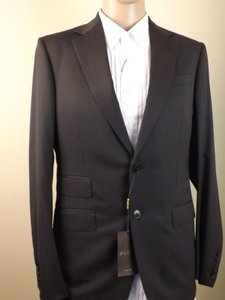 Gucci Dark Gray Wool Stretch Two Button Suit Eur 46 R / Us 36 #221536 Tuxedo