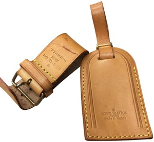 Louis Vuitton Louis vuttion luggage tag set and lock and key