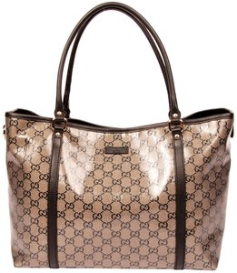 Gucci Beige Gg Canvas Canvas Vintage Tote in Black Blue Gold 6114