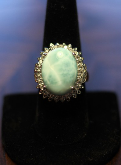 rooterville Larimar and White Topaz Ring Image 1