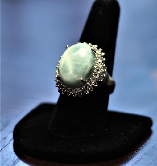 rooterville Larimar and White Topaz Ring Image 2