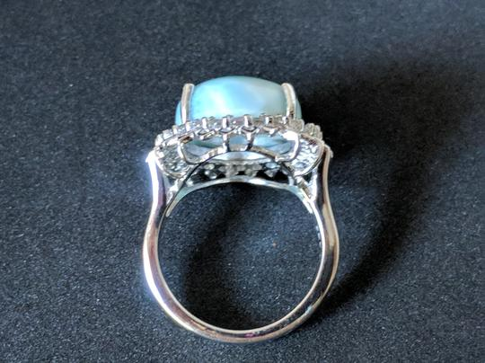 rooterville Larimar and White Topaz Ring Image 3