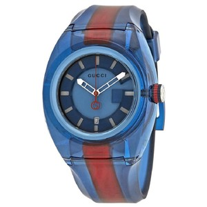 Gucci Sync Xl Blue Dial Men's Rubber Watch