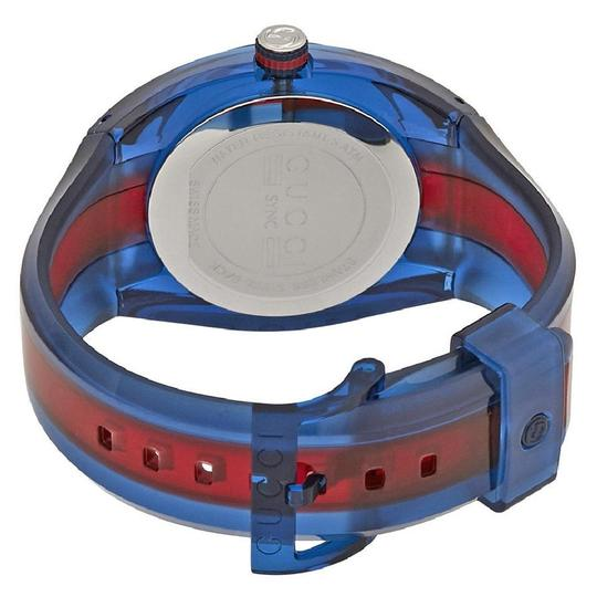 Gucci Sync Xl Blue Dial Men's Rubber Watch Image 2