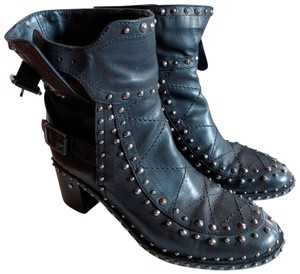 Laurence Dacade Studded Leather Black Boots