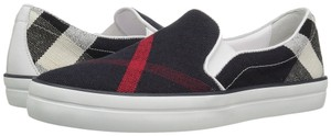 Burberry Sneaker Plaid Flat Slip-on Navy Athletic