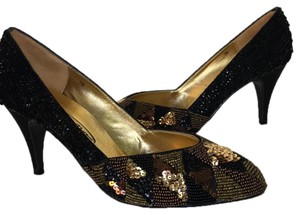 Impo Vintage Beaded Party black Pumps