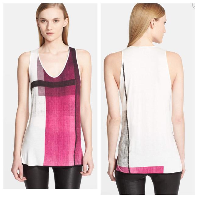 Item - Pink/White Abstract Tank Top/Cami Size 6 (S)