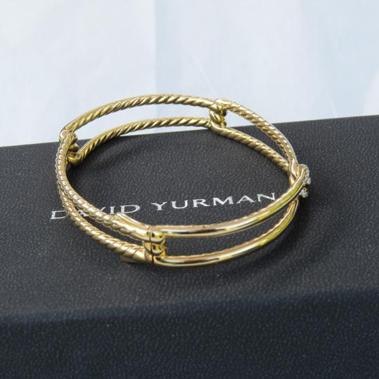David Yurman Continuance 9mm 18k Yellow Gold Bracelet with Diamonds Image 2