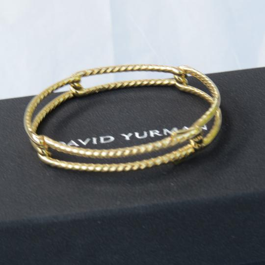 David Yurman Continuance 9mm 18k Yellow Gold Bracelet with Diamonds Image 5
