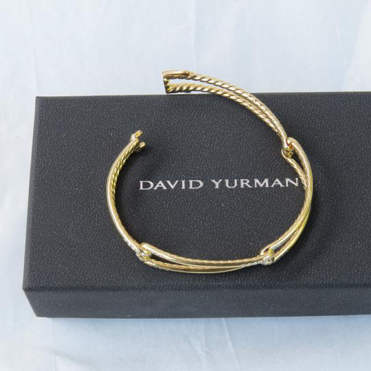 David Yurman Continuance 9mm 18k Yellow Gold Bracelet with Diamonds Image 7