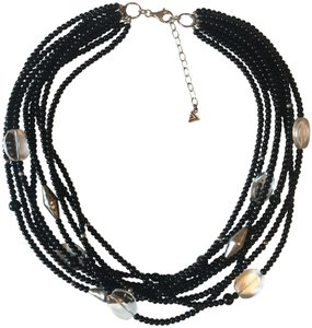 Silpada Black, Glass, and Sterling Silver Beaded Multi Strand Necklace