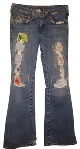 True Religion Flare Leg Jeans-Distressed