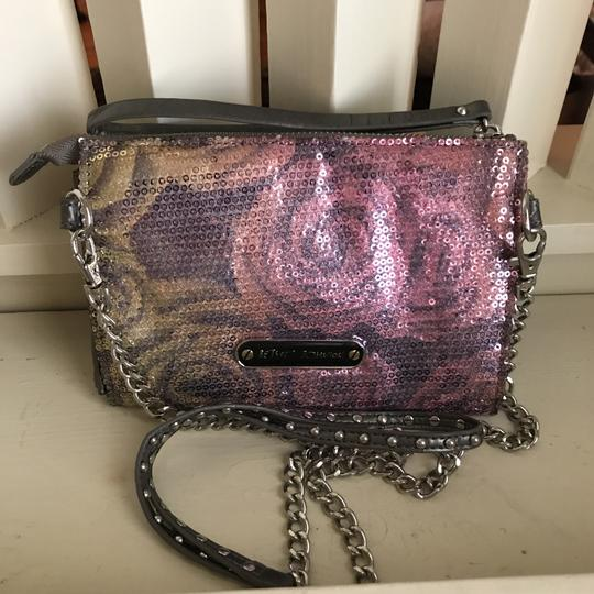 Betsey Johnson Wristlet in Grey, Pink, Green Image 1