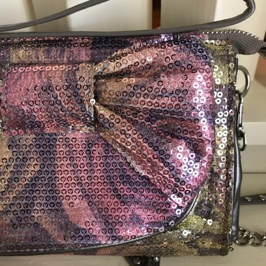 Betsey Johnson Wristlet in Grey, Pink, Green Image 6