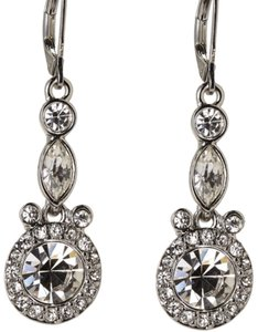 Givenchy Accented Silver-Tone Drop Earrings