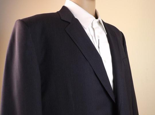 Gucci Black / Gray Wool Classic Stripe Two Button Suit Eur 58 R/ Us 48 #353238 Tuxedo Image 3