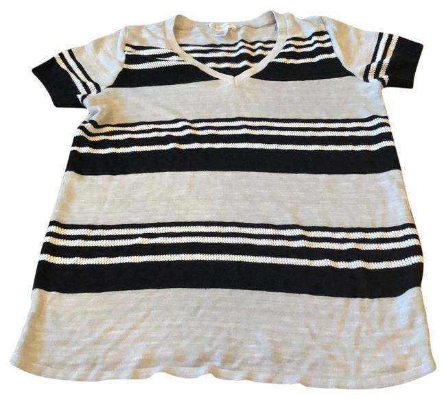 Item - Black Gray and White Striped Maternity Top Size 12 (L)