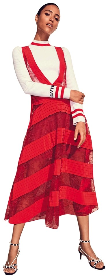 80a068701d RED Maxi Dress by Valentino Runway Spring Summer 2018 New Condition Image 0  ...