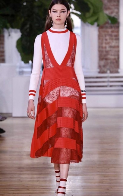 RED Maxi Dress by Valentino Runway Spring/Summer 2018 New Condition Image 6