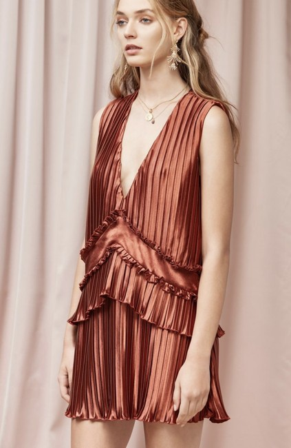 Finders Keepers Minidress Shimmer Ruffle Dress Image 2