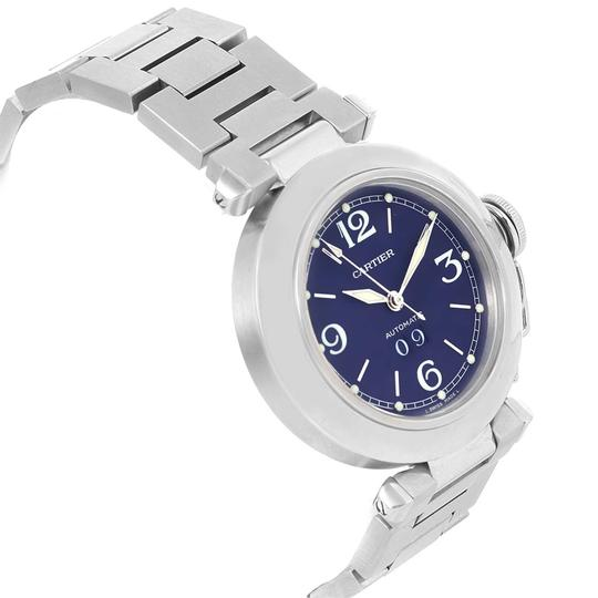 Cartier Cartier Pasha C 35mm Big Date Steel Blue Dial Unisex Watch W31047M7 Image 2