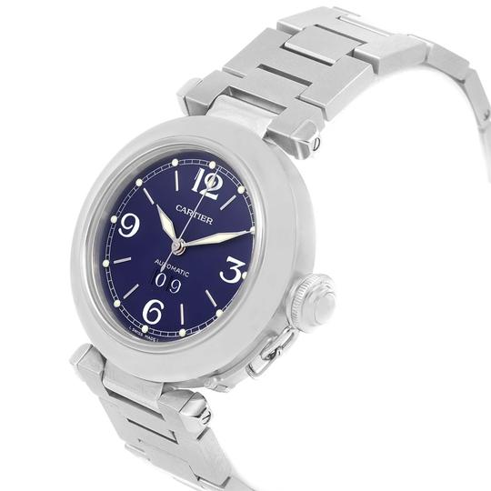 Cartier Cartier Pasha C 35mm Big Date Steel Blue Dial Unisex Watch W31047M7 Image 3