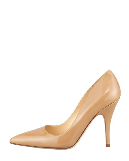 Kate Spade Patent Leather Stilleto Pointed Toe Canel Pumps Image 1