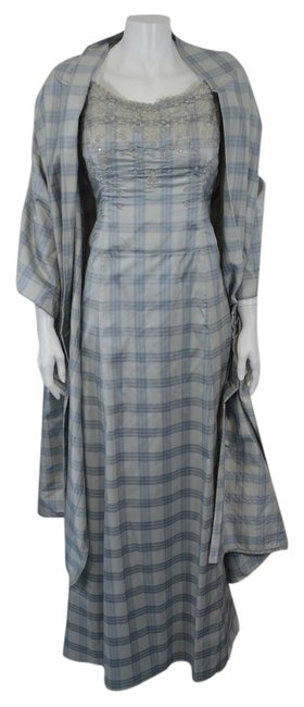 Preload https://item3.tradesy.com/images/badgley-mischka-light-bluegray-women-s-silk-2-pc-plaid-dl-long-formal-dress-size-6-s-2344237-0-0.jpg?width=400&height=650