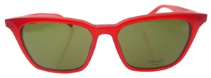 Céline wayfarer, 41065/S, Red Acetate square thin glasses with grey/green len