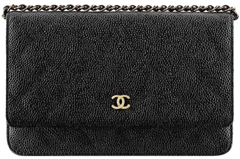 b2b4d57ea86c Chanel Wallet On A Chain WOC Quilted Lambskin CC Flap Crossbody Bag Caviar  ...