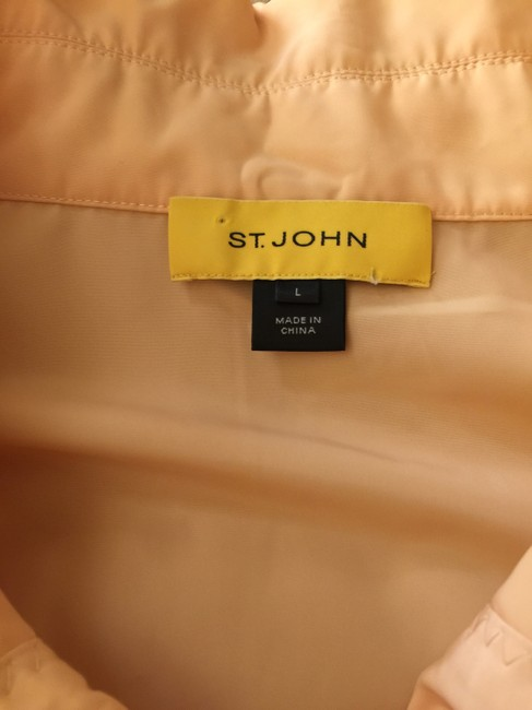 St. John Light Orange Blazer Image 1