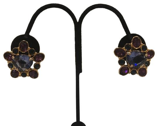Preload https://img-static.tradesy.com/item/23442509/swarovski-violet-purple-gold-daisy-flower-crystal-tone-clip-earrings-0-1-540-540.jpg