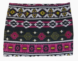 Buffalo David Beaded Mini Size S New With Tags Stretch Mini Skirt Multi Color