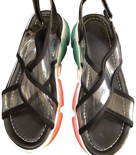 Preload https://img-static.tradesy.com/item/23442555/black-and-transparent-top-with-multi-color-sole-67543-sandals-size-us-75-regular-m-b-0-1-540-540.jpg