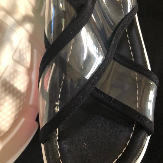Knowlesandcompany black and transparent top with multi color sole. Sandals Image 2
